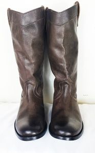 Frye Leather Grey Tall Boot sz 7.5 NEW